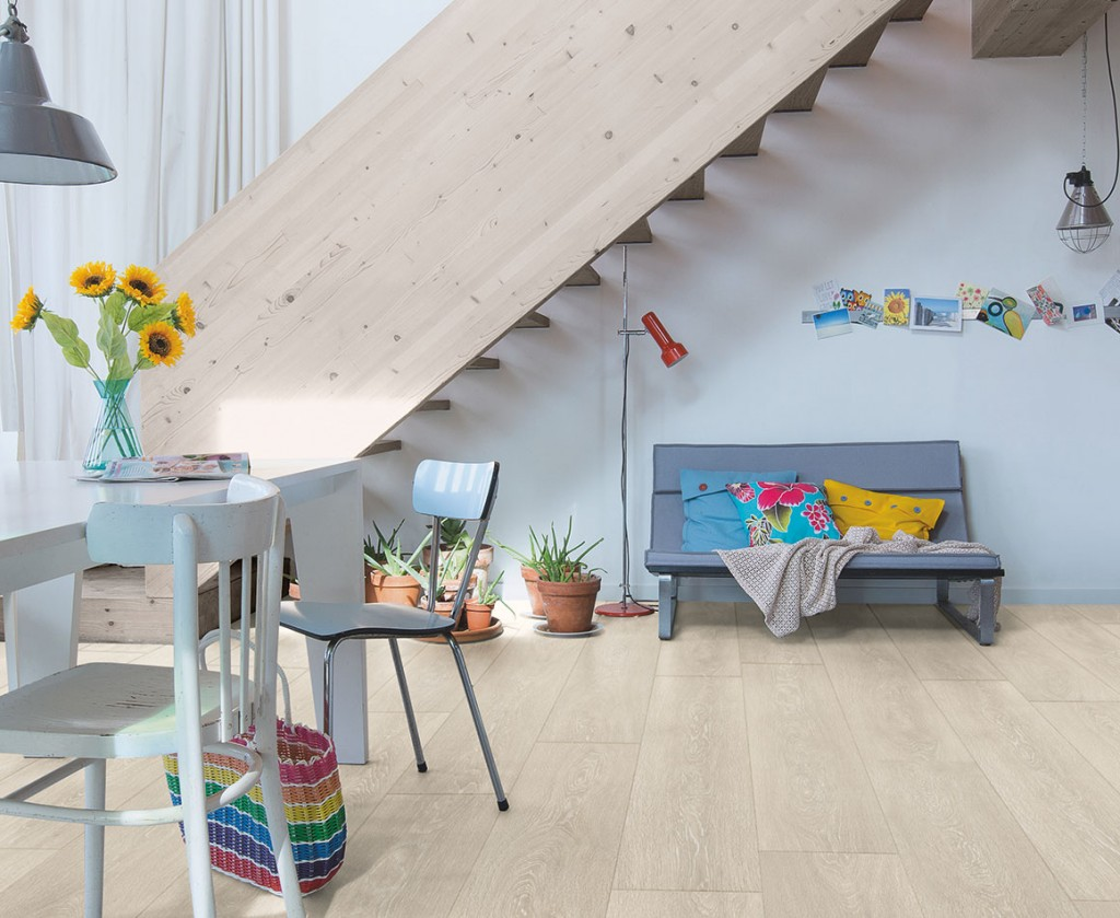 """Quick-Step laminuotos grindys. Ąžuolas, šviesios smėlio spalvos, """"Valley"""", MJ3554, Majestic kolekcija"""