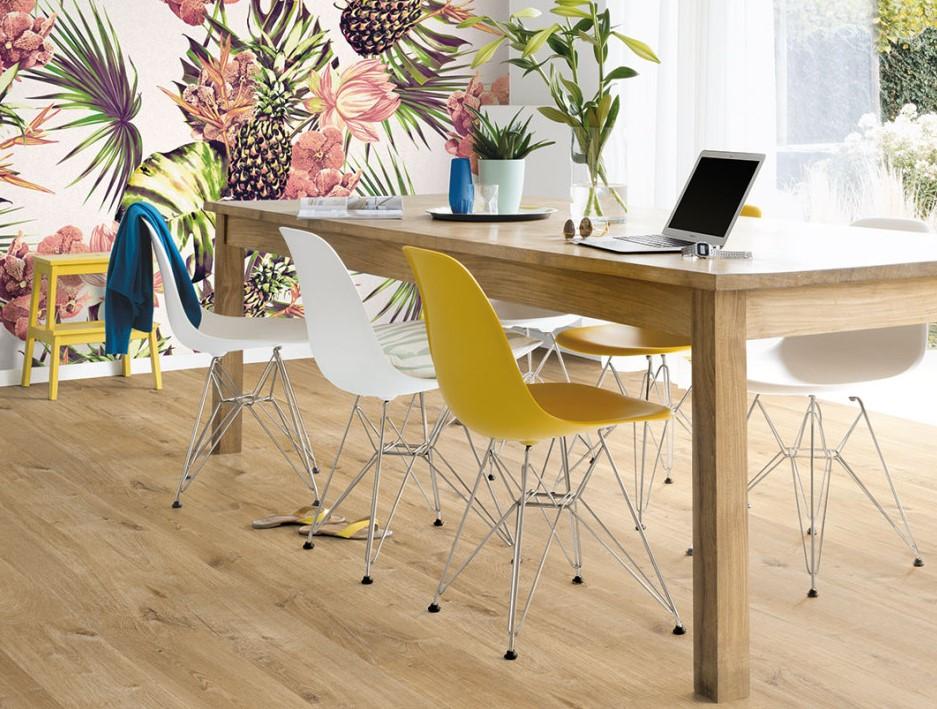 Quick-Step vinilinės grindys. Ąžuolas, natūralus, Cotton, PUGP40104, Pulse kolekcija